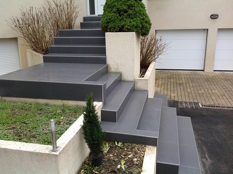 Escalier imitation ardoise